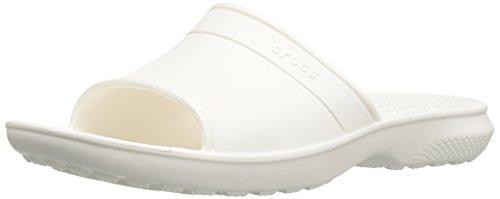 Crocs Classic Slide Sandal, White, 8 US Men's/10 US Women's