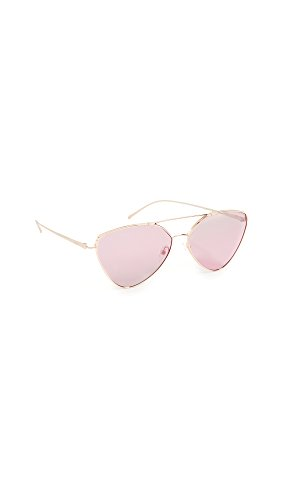 Prada Women's Industrial Sunglasses, Pale Gold/Silver Violet, One - Shopbop Sunglasses
