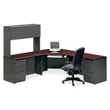 HON 38000 Series Modular Desk Ensembles-Double Pedestal Desk, 60