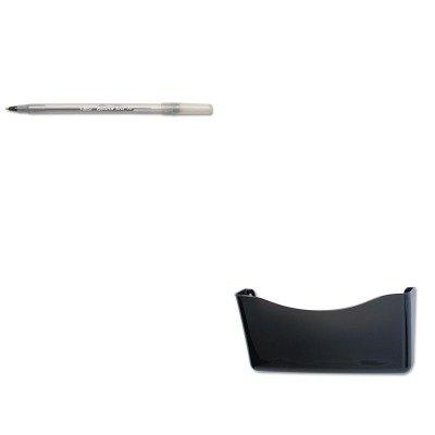 KITBICGSM11BKRUB65970ROS - Value Kit - Rubbermaid Unbreakable Single Pocket Wall File (RUB65970ROS) and BIC Round Stic Ballpoint Stick Pen (BICGSM11BK)