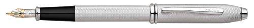 Cross Townsend Brushed Platinum Plate Fine Point Fountain Pen - AT0046B-29FD by Cross Cross Townsend Platinum Fountain Pen