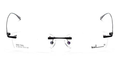 JNS Titanium Alloy Flexible Rimless Frame Prescription Eyeglasses Frame Clear Lens