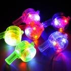 Fullfun Colorful Lanyard LED Light Up Flashing Whistle Toy For Kids and Adults