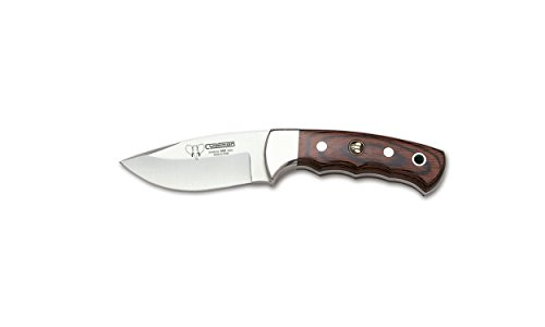 Skinner Fixed Blade knife Cudeman 142-R with handle of stamina Sheet 8.5 cm with brown leather sheath.