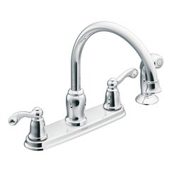 moen ca87004 high arc kitchen faucet with side spray from the traditional collection chrome - Moen Kitchen Sink Faucet