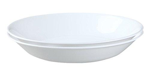 Corelle Livingware 20-Ounce Salad/Pasta Bowl, Winter Frost White (2, White)