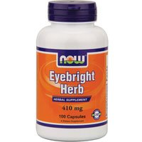 Now Foods Eyebright Herb, 410 mg, 100 Caps (Pack of 6)