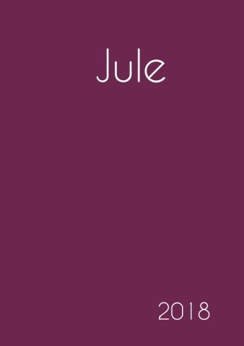 Download 2018: Namenskalender 2018 - Jule - DIN A5 - eine Woche pro Doppelseite (German Edition) pdf