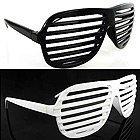 NEW 2 KANYE STRONGER SHUTTER SHADES HIP HOP SUNGLASSES BLACK AND WHITE