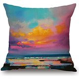 Alphadecor Throw Cushion Covers Of Scenery 20 X 20 Inches / 50 By 50 Cm,best Fit For Deck Chair,indoor,family,pub,lover,dance Room 2 (Lilac Angel Toddler Costume)