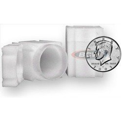 (Square Half Dollar Coin Tube(Qty=10 Tubes) by CoinSafe)