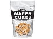 Snackie Wafer Cubes Milk Flavour 4 Layers with Milk Cream 200g
