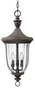 Hinkley 1242MN Oxford Collection Pendant, Midnight Bronze Finish - Clear Optic