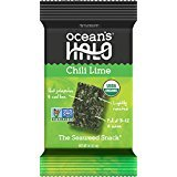 Ocean's Halo Seaweed Snacks (1 Case of 12 Unit Trays) (Chili Lime)