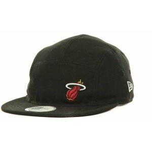 New Era Miami Heat Nba Strapback Camper Cap Black 0 (New Era Camper Hat)