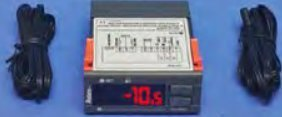 Refrigeration Thermostat and Thermometer with defrost (220 VAC)