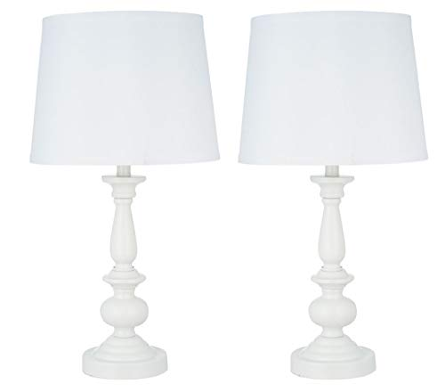 Catalina Lighting 21897-000 Traditional 2-Pack Balustrade Matching Table Lamp Set, 22.25