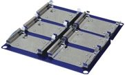 Benchmark Scientific H1010-P-MP Microplate Platform for Orbital Shaker, Holds 6 Standard Micro Plates