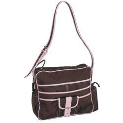Kalencom Multitasker Diaper Bag, Chocolate/Pink