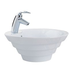 porcher bathroom sink porcher 07431wh cirque vessel style bathroom sink white 14026