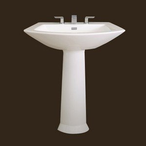 TOTO LPT962.8#03 Soiree Lavatory and Pedestal with 8-Inch Centers, Bone