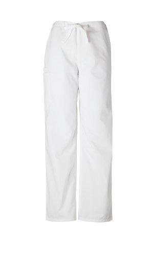 Scrubs - Authentic Cherokee Workwear Unisex Scrub Pant (White, M)