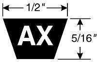 Gates AX98 Tri-Power Belts 9012-2098