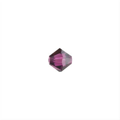 5301 4mm Faceted Bicone Amethyst AB (50) ()