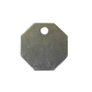 C.H. Hanson C H Hanson 1-1/4'' Aluminum Octagon Blank Metal Tag - 100 pk.