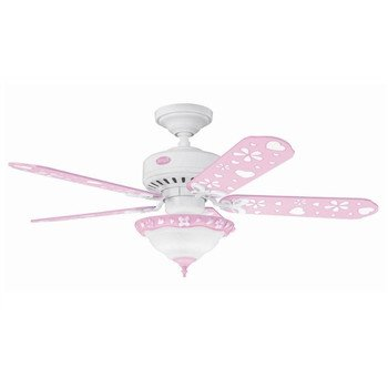 Factory-Reconditioned Hunter HR21345 44″ Children's Pink Ceiling Fan with Light, Appliances for Home