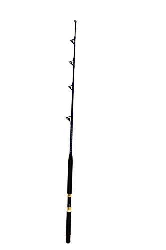 EAT MY TACKLE Saltwater Fishing Rod All Roller Guides 30-50 lb. Fishing Pole!
