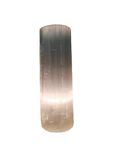 Selenite Flat Top Lamp, 12 to 14 inches tall, cord and bulb included, amazing space hamonizer, high vibrations healing crystal