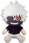 Great Eastern Tokyo Ghoul GE-52967 Mask Ken Kaneki White Hair Sitting Pose Plush