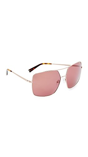 KENDALL + KYLIE Women's Sophie Aviator Sunglasses, Shiny Rose Gold/Sienna, One - Kylie And Kendall Sunglasses