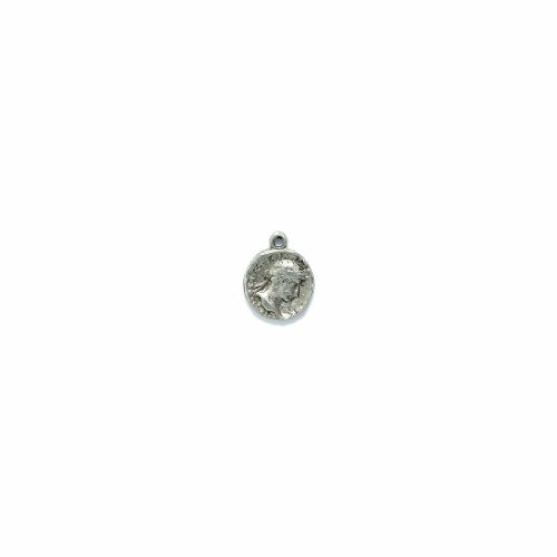 Shipwreck Beads Pewter Ancient Coin Charm, Silver, 12 by 15mm, 8-Piece ()