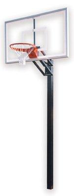 最初チームChamp選択steel-acrylic in ground調整可能バスケットボールsystem44、グレー B01HC0DA7U