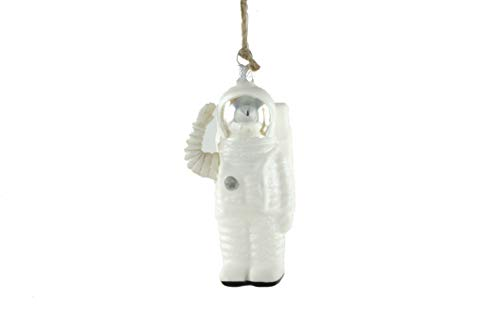 (Cody Foster & Co Astronaut Saluting Glass Hanging Ornament (Silver Helmet))