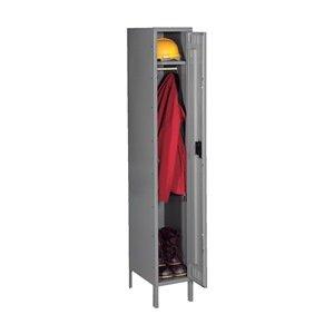 Knocked Down Locker, Single, 12x12x66In, Gray - Knocked Down Locker