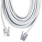 GE TL96119 Phone Line Cord (25 ft, White, 4-conductor), Office Central