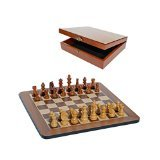 (Grand Staunton Chess Set and Wooden Box - Tournament Size Weighted Pieces and Walnut Board - 19 in)