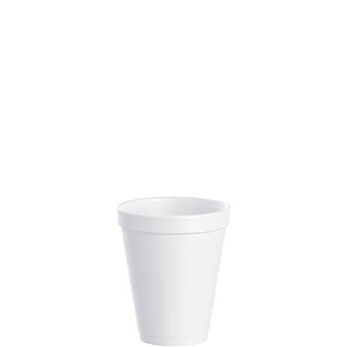 Dart DRC10J10 Styrofoam Insulated Foam Cups, 10 oz, Carton of 1000(40 packs of 25 cups)
