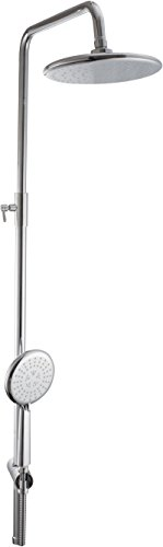 Hindware F160097CP Brass Exp Rain Shower with Wall Mixer  Chrome
