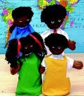 Children's Factory African American Family Puppet Set 4 (Family Puppet African American)