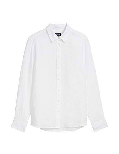 Donna Chambray Linen Gant Shirt The White Camicia fv8O4wnq