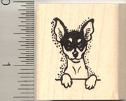 Toy Fox Terrier Dog Rubber Stamp - Wood Mounted ()
