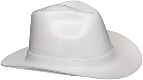 847a6a4454400 Vulcan Cowboy Hard Hat - Ratchet Suspension - White - - Amazon.com
