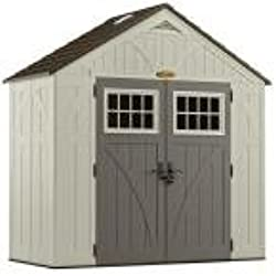 "Suncast BMS8400D Tremont Resin Storage Shed, 4' 3/4"" 8' 4-1/2"""