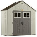 Suncast BMS8400D Tremont Resin Storage Shed, 4' 3/4'' by 8' 4-1/2''
