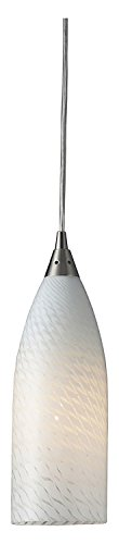 Cilindro 1 Light Pendant in Satin Nickel and White Swirl - Cilindro Art