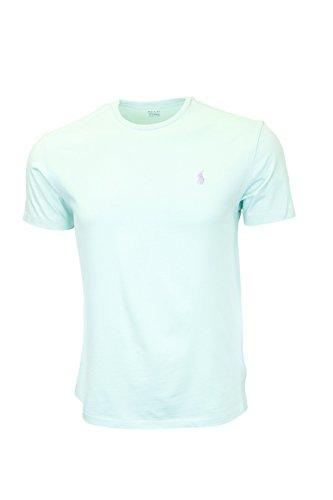 Polo Ralph Lauren Men's Classic Fit Crew-Neck T-Shirt Cotton (Small, Green (Light Purple ()